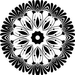 Mandala Floral Circle print art