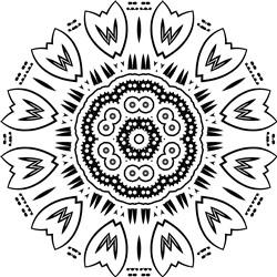 Mandala & Tulips print art