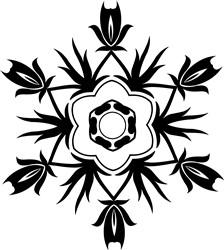 Rose Mandala print art