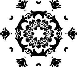 Mandala Floral Pentagon print art