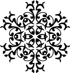 Mandala Snowflake print art