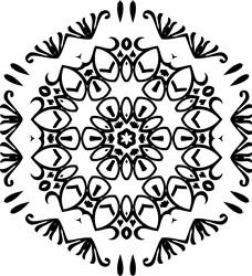 Pretty Mandala Pentagon print art