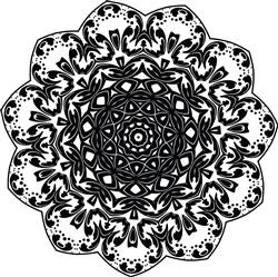 Scalloped Mandala print art