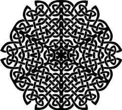 Celtic Mandala print art