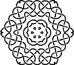 Swirly Mandala print art