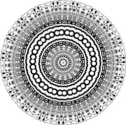 Decorative Mandala print art