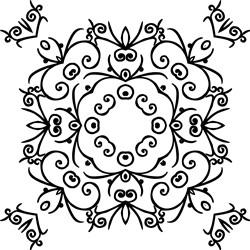 Vintage Mandala Square print art