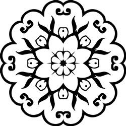 Mandala Scallops print art