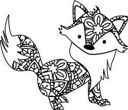 Mandala Fox print art