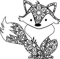 Sweet Mandala Fox print art