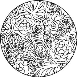Mandala Monogram print art