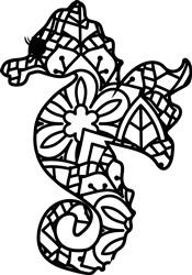 Mandala Seahorse print art