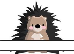 Hedgehog Name Drop print art