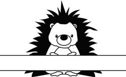Name Drop Hedgehog print art