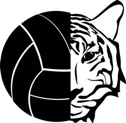 Volleyball & Tiger Mascot print art