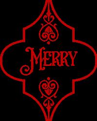 Christmas Merry Ornament print art