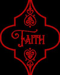 Christmas Faith Ornament print art
