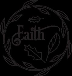 Christmas Faith Wreath print art