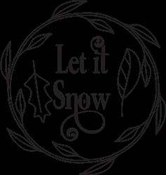 Let It Snow Wreath print art