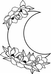 Moon Flowers print art