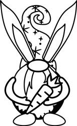 Carrot Bunny Gnome print art