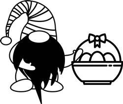 Egg Basket Gnome print art