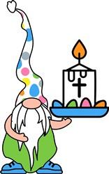 Easter Gnome print art