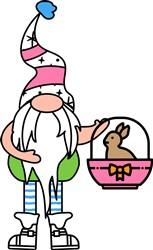 Bunny Basket Gnome print art