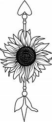 Sunflower Arrow print art