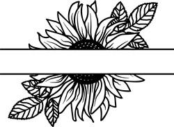 Namedrop Sunflower print art