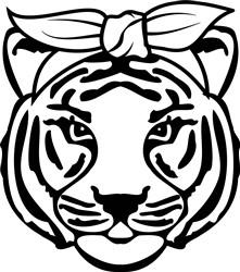 Tiger Head print art