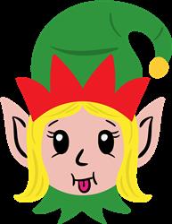 Elf Girl Head print art