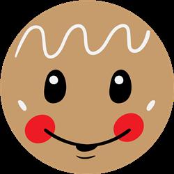 Gingerbread Boy Face print art