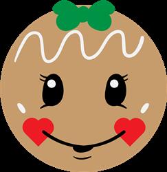 Gingerbread Girl Face print art