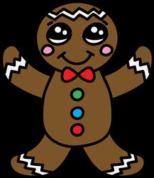 Gingerbread Man print art
