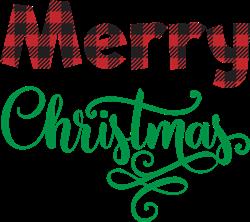Merry Christmas Buffalo Plaid print art