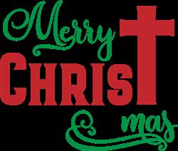 Merry Christmas Cross print art