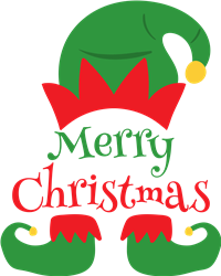 Merry Christmas Elf print art