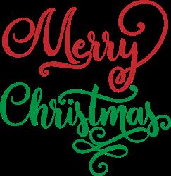 Merry Christmas Fancy print art