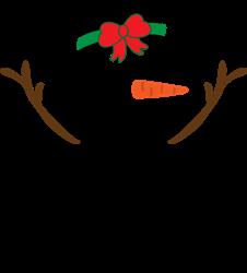 Merry Christmas Snowgirl print art