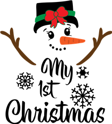 1st Christmas Snowgirl print art