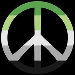 Aromantic, Peace Symbol print art