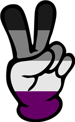 Asexual Pride Peace Sign print art