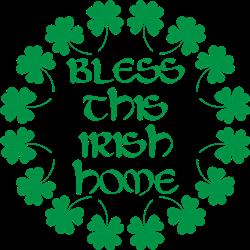 Bless Irish Home print art