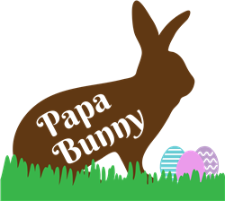 Papa Bunny print art
