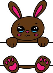 Boy Bunny Monogram print art