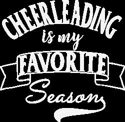 Cheerleading Season White print art