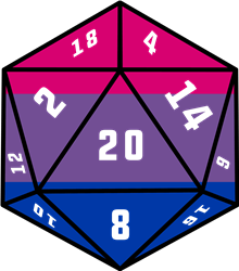20 Dice Bisexual Pride print art