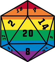 D20 Dice Gay Pride print art
