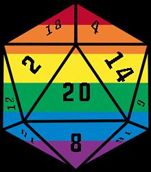 Gay Pride 20 Dice print art